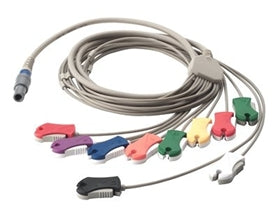 Welch Allyn #SE-PC-AHA-CLIP / SE-PRO-600 10 Lead Patient Cable