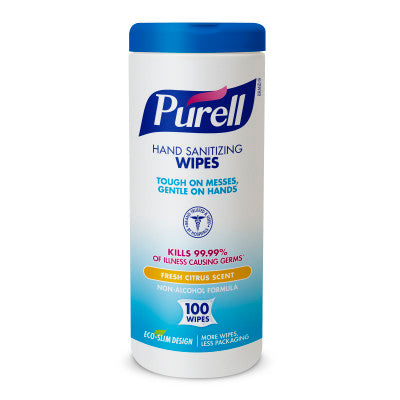 PURELL® #9111 Hand Sanitizing Wipes 100 Count Eco-Slim Canister