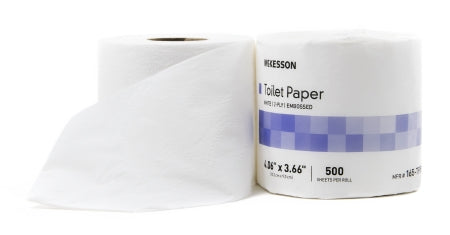 Toilet Tissue McKesson White 2-Ply Standard Size Cored Roll 500 Sheets 3-3/5 X 4 Inch - each