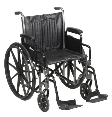 Wheelchair Desk Length Arm Padded, Removable Arm Style Composite Wheel Black 20 Inch Seat Width 350 lbs. Weight Capacity