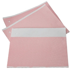 GE MARQUETTE #PM2009828024-V Z-FOLD RED GRID CHART PAPER WITH BLANK HEADER - fhmedicalservices