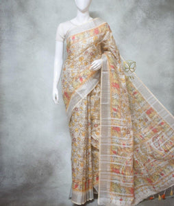Spencer - Pure Linen Saree with Digital Prints