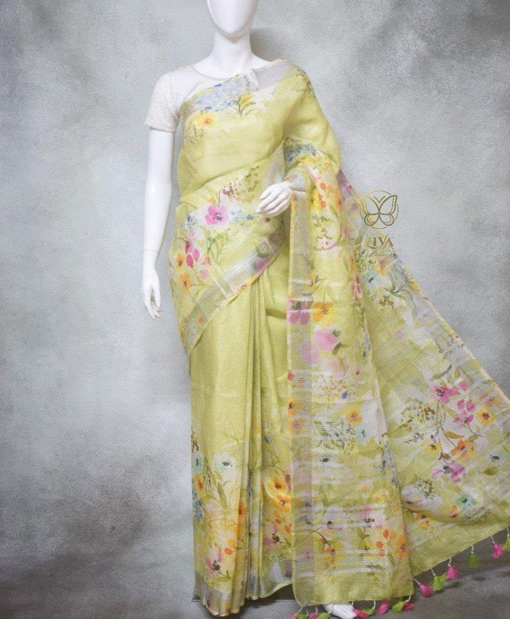 Aida - Pure Linen Sarees with Digital Prints