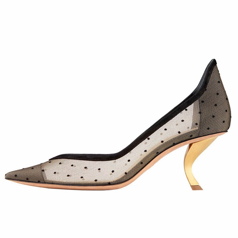 Pointed Toe Polka Dot Pumps