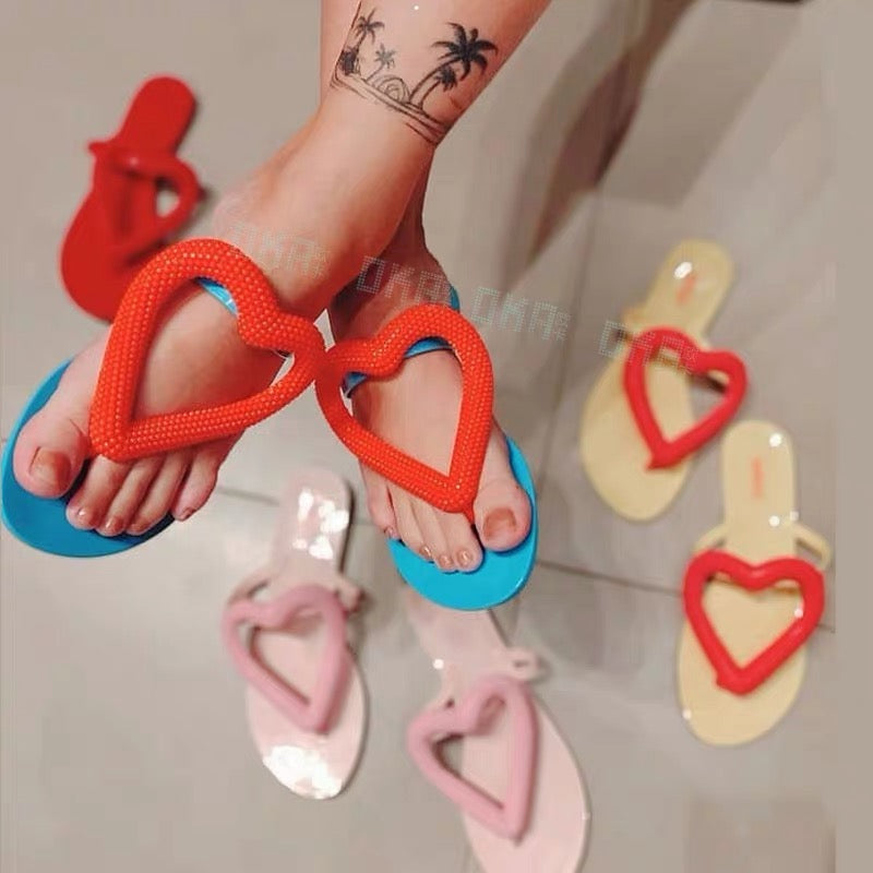 Heart Jelly Sandals