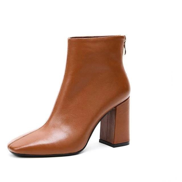 Genuine Leather Booties