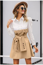 Load image into Gallery viewer, Puff Sleeve Shirt Dress