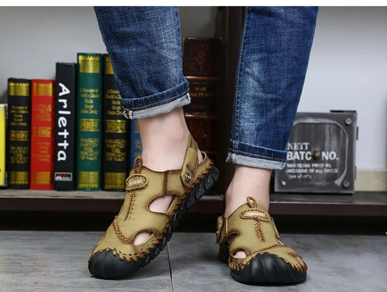 Men's Casual Leather Sandals