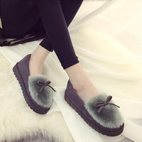 Winter Feather Down Flats