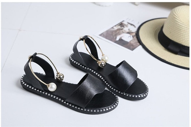 Slip-On Pearl Sandals