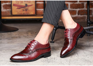 Open image in slideshow, Leather Oxfords Shoes