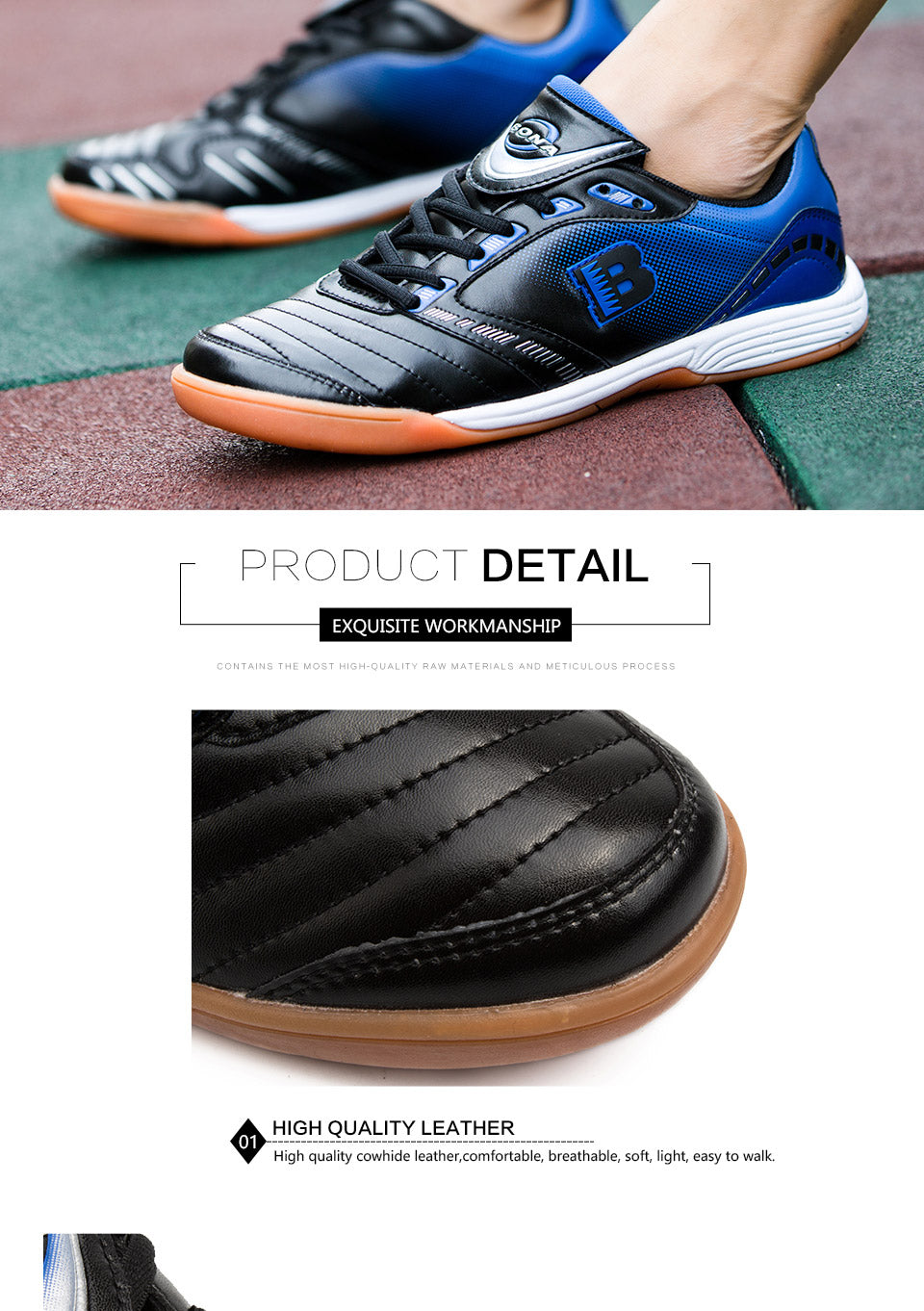 Leather Football Sneakers