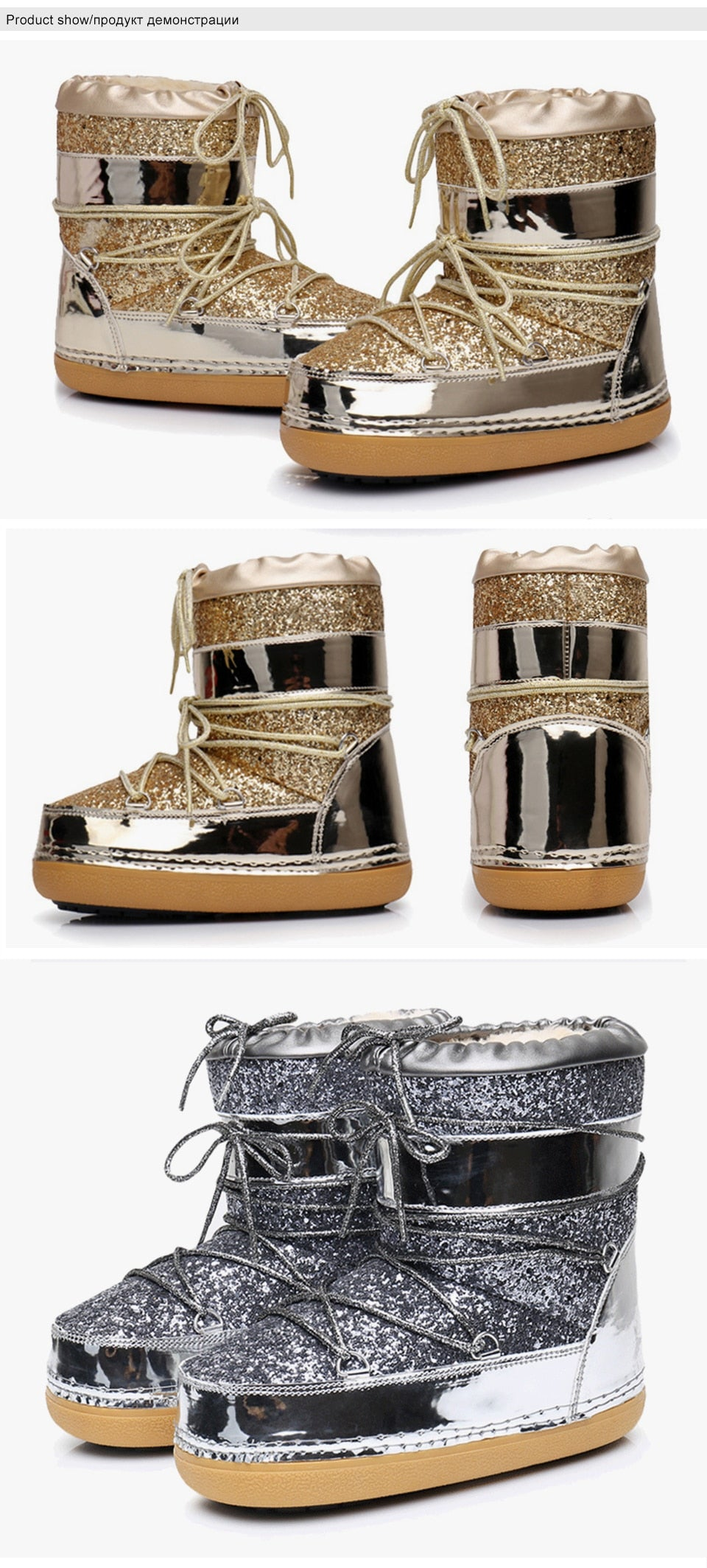 Fur Bling Winter Boots