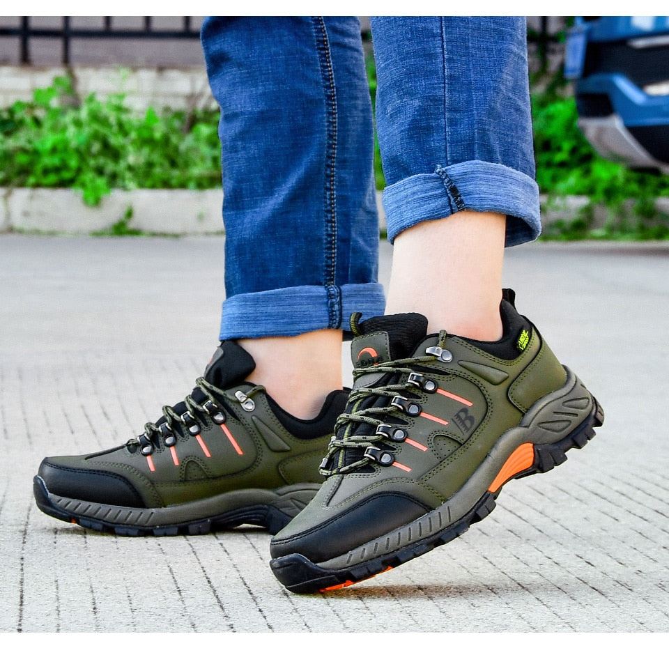 Leather Hiking Jogging Sneakers