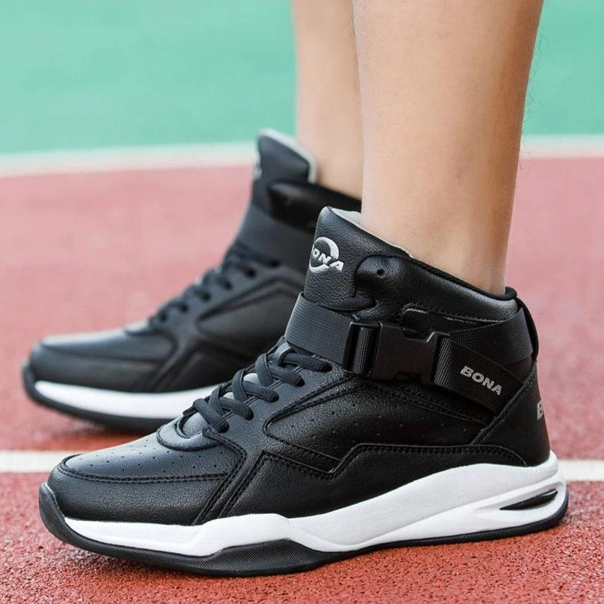 Men's Leather Basketball Sneakers
