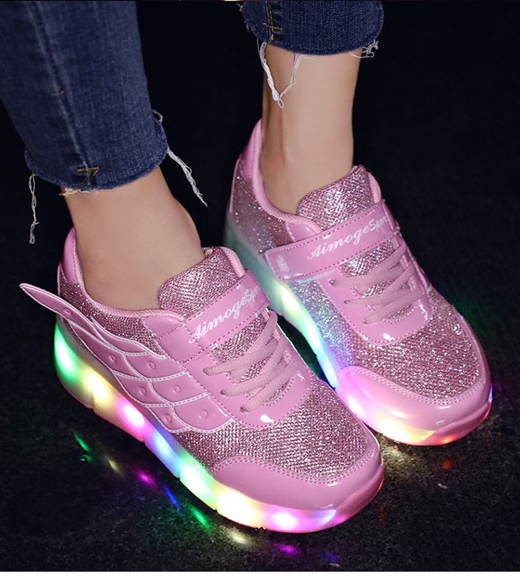 LED Winged Roller Skate Sneakers