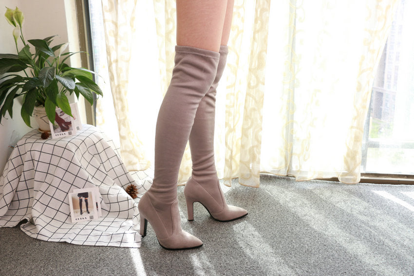 Over The Knee High Heel Boots