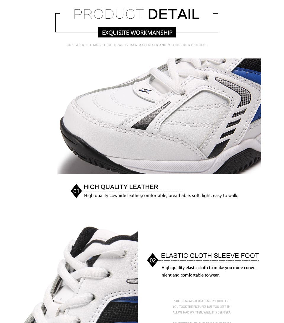 Men's Leather Jogging Sneakers
