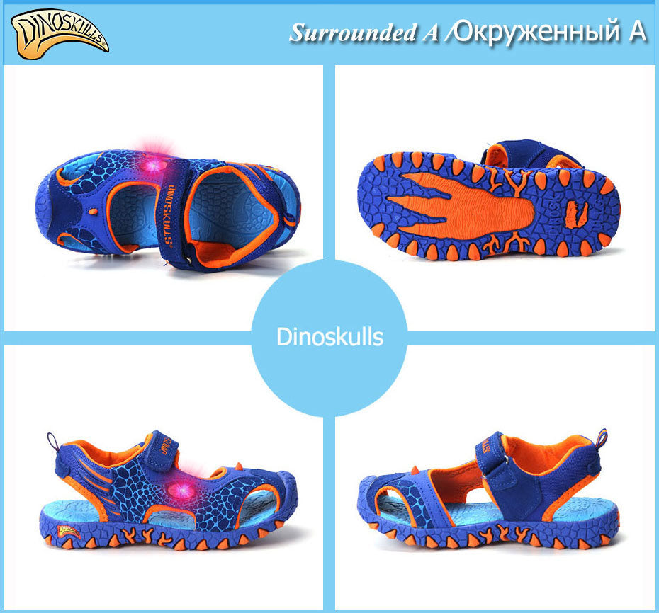 LED 3D Dinosaur Sneaker Sandals