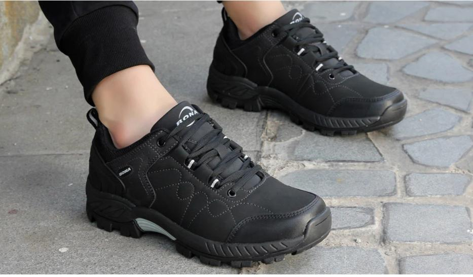 Leather Hiking Jogging Trekking Sneakers