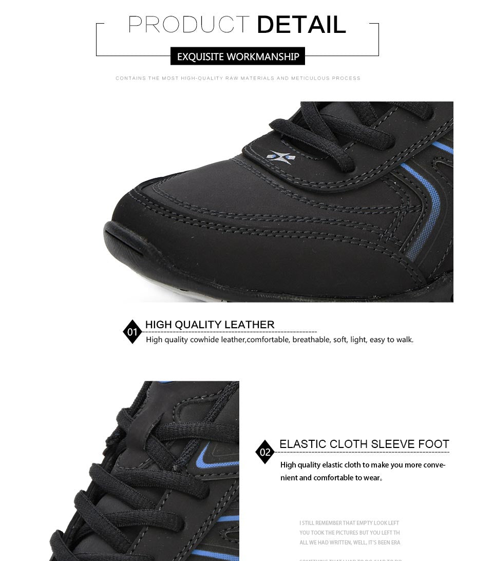 Leather Running Jogging Sneakers