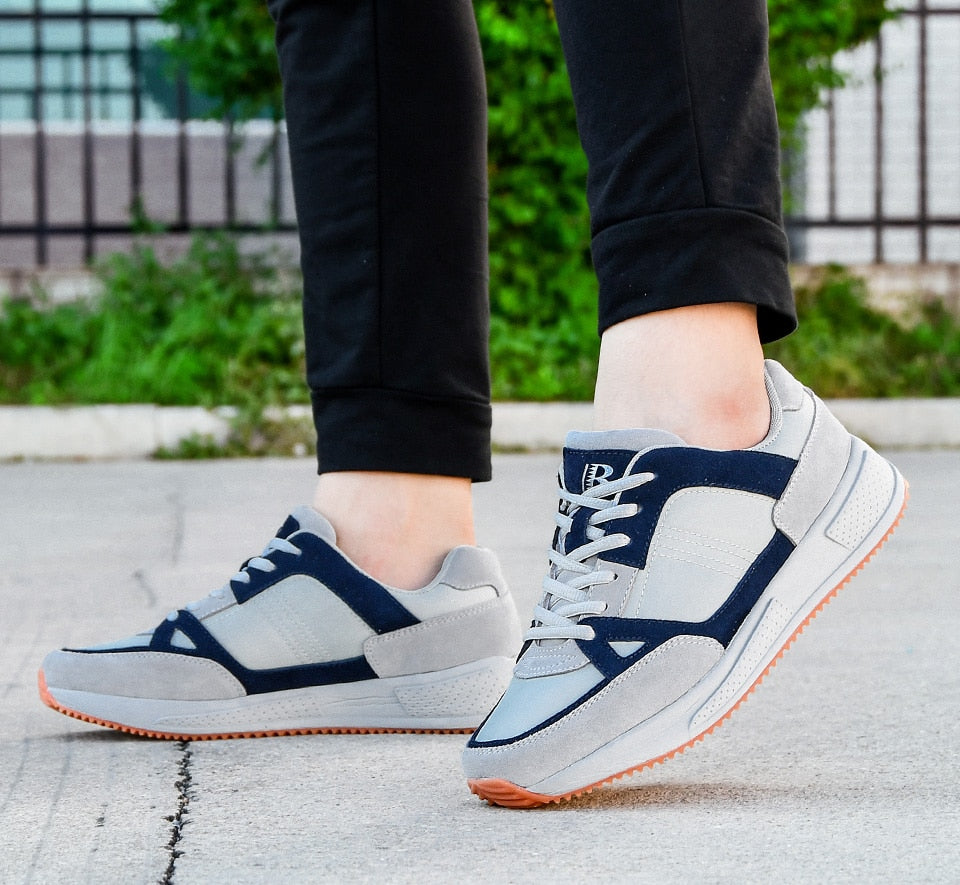 Suede Mesh Running Jogging Sneakers
