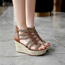 Load image into Gallery viewer, Super Wedge Platform Sandals