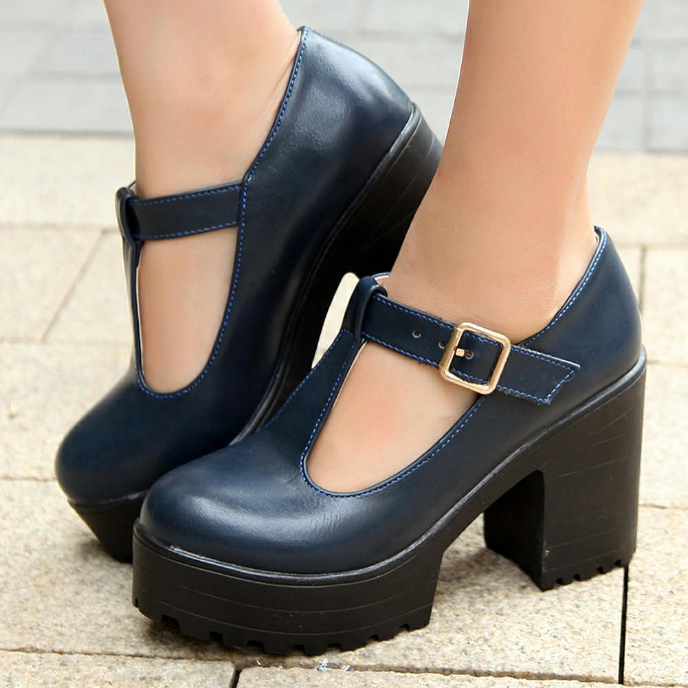 T-Strap Mary Janes Platform Shoes