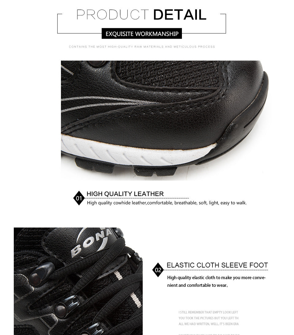 Leather Jogging Running Sneakers