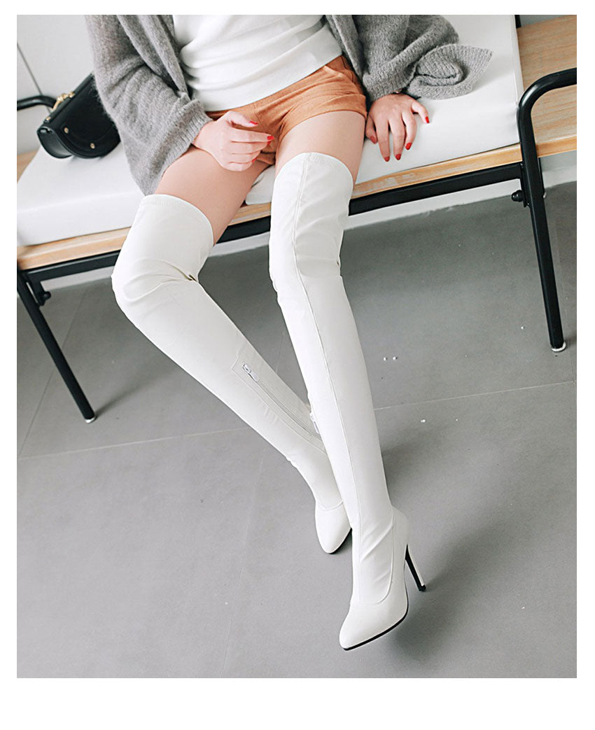 Pointed Toe Over The Knee Boots