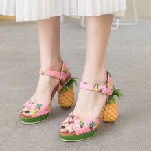Load image into Gallery viewer, Pineapple Fruit Sandals