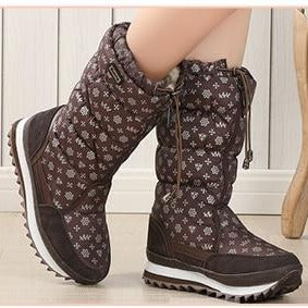 Warm Plush High Snow Boots