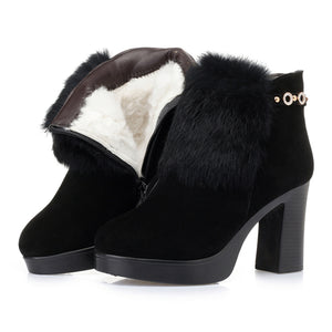 Open image in slideshow, Genuine Leather Suede Booties