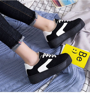 Lace Up Canvas Platform Sneakers