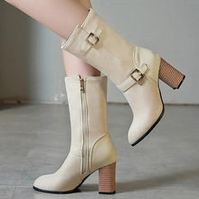 Load image into Gallery viewer, Mid-calf Square Heel Boots