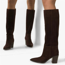 Load image into Gallery viewer, Suede Knee High Boots