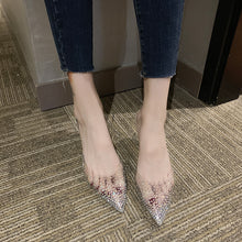 Load image into Gallery viewer, Transparent Crystal Slingback Pumps