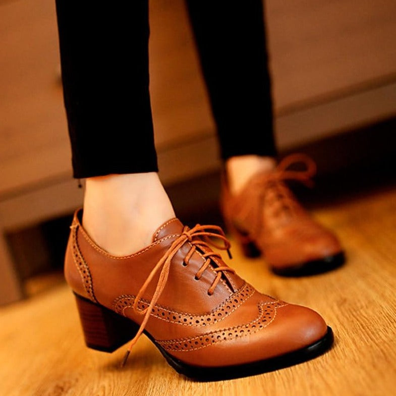 Marilyn Lace Up Oxford Shoes
