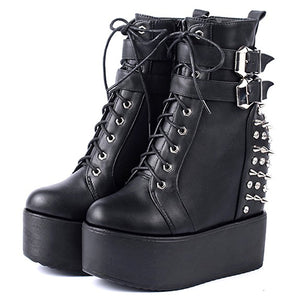 Open image in slideshow, Rivets Ankle Boots