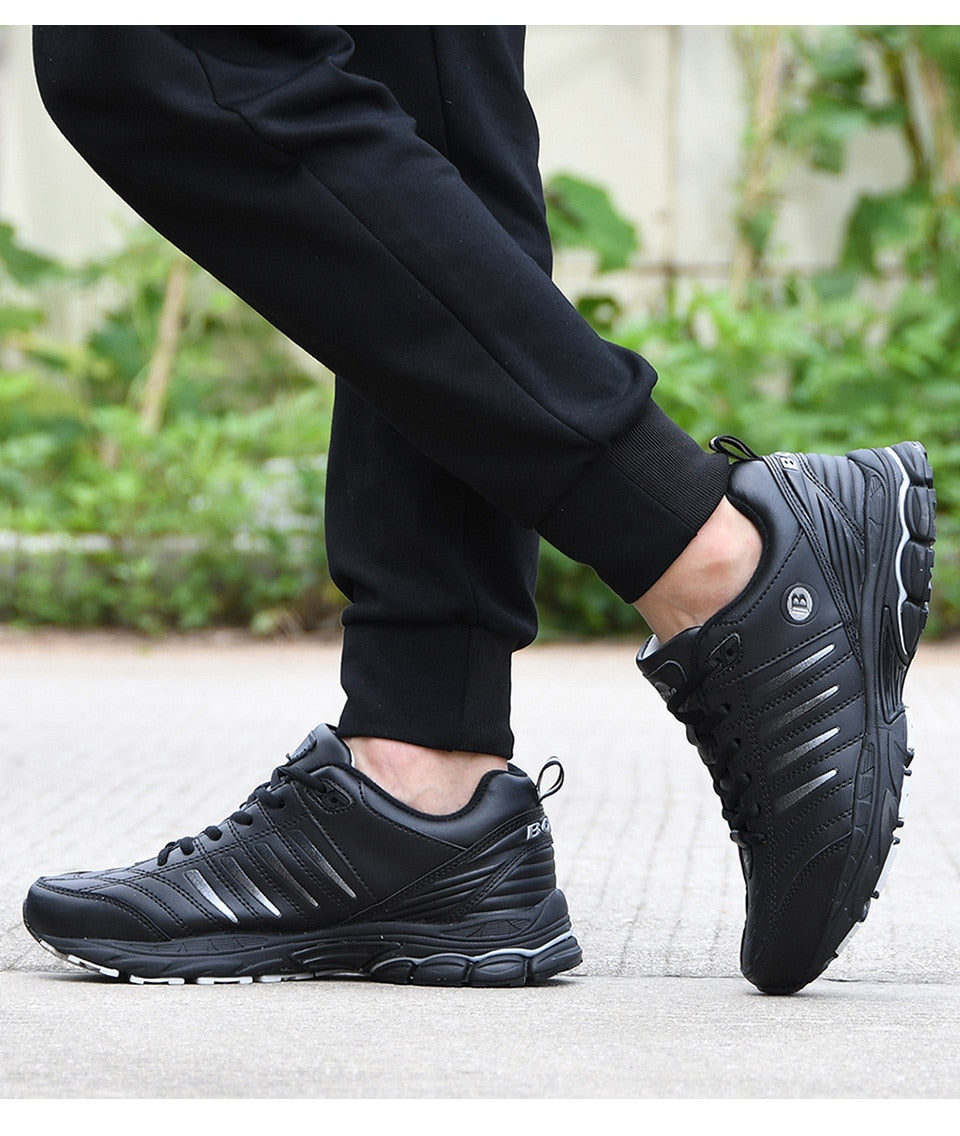 Leather Walking Running Sneakers