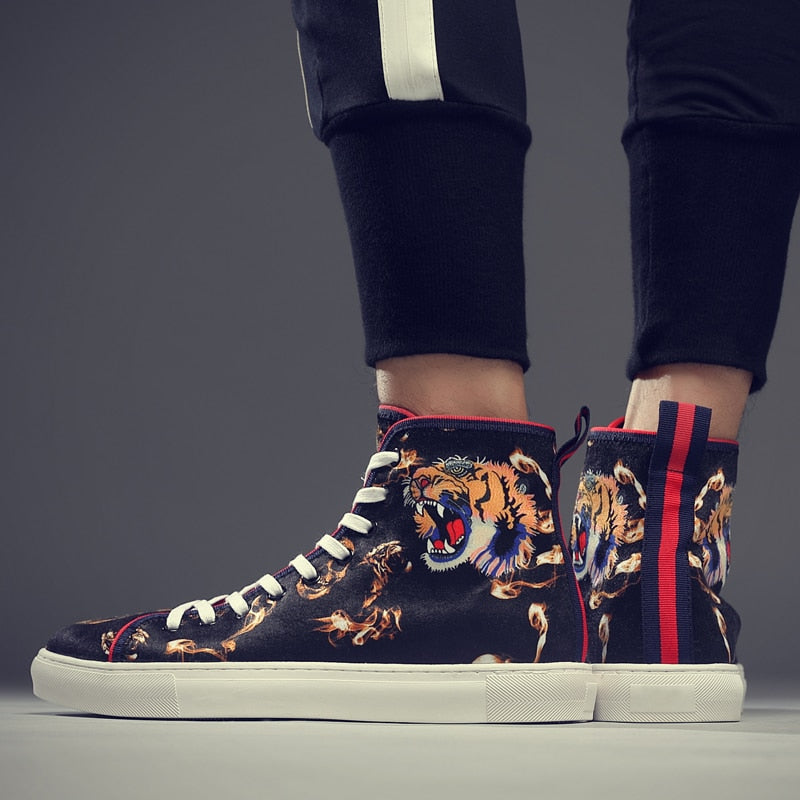 Bengal Tiger Lace-Up Sneakers