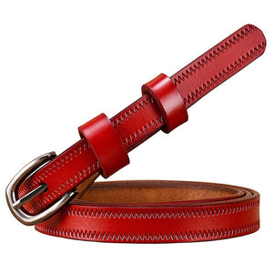 Open image in slideshow, Genuine Leather Buckle Belt