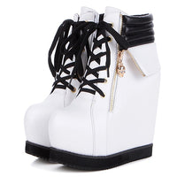 Thick Platform Wedge Ankle Boots