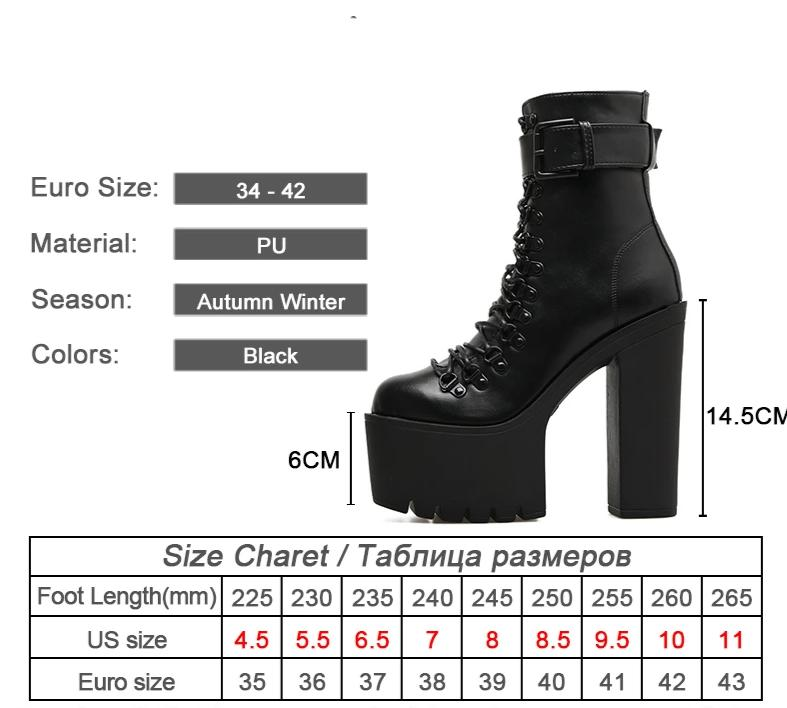 High Heel Black Ankle Boots