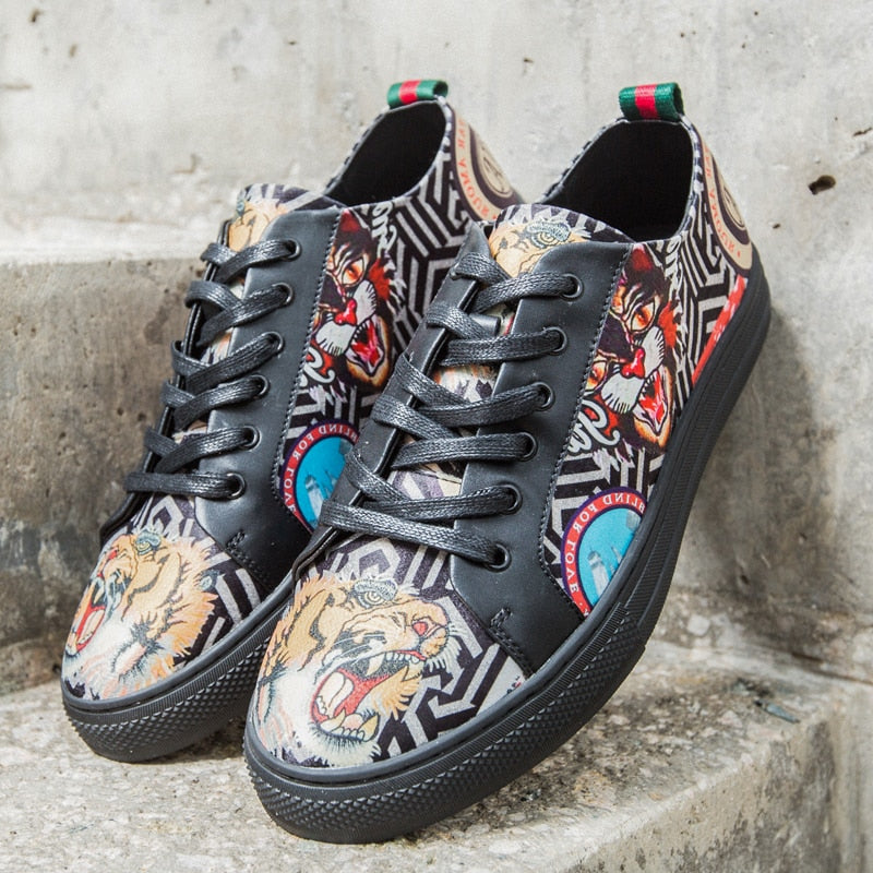 Bengal Tiger Leather Sneakers