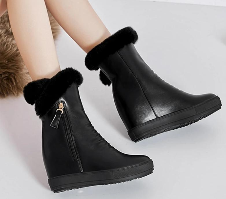 Real Fur Snow Boots