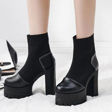 Load image into Gallery viewer, High Heel Platform Ankle Boots