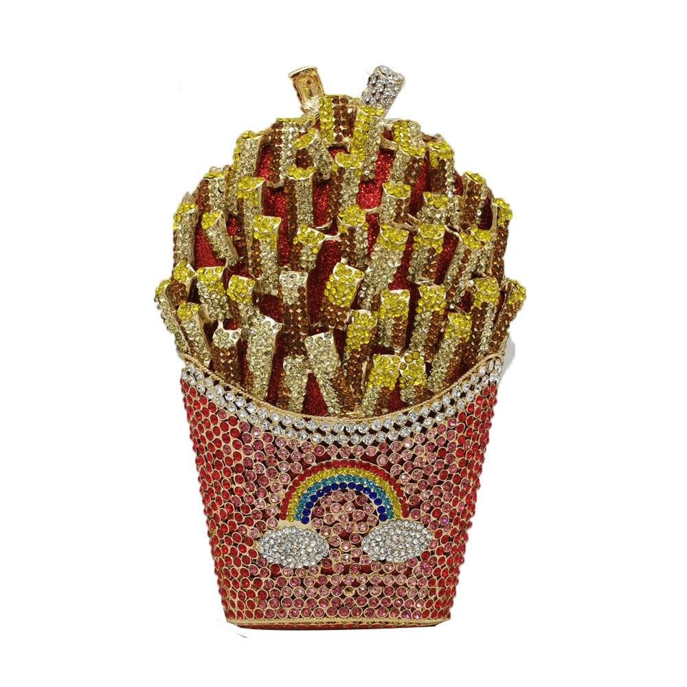 French Fries Crystal Clutch