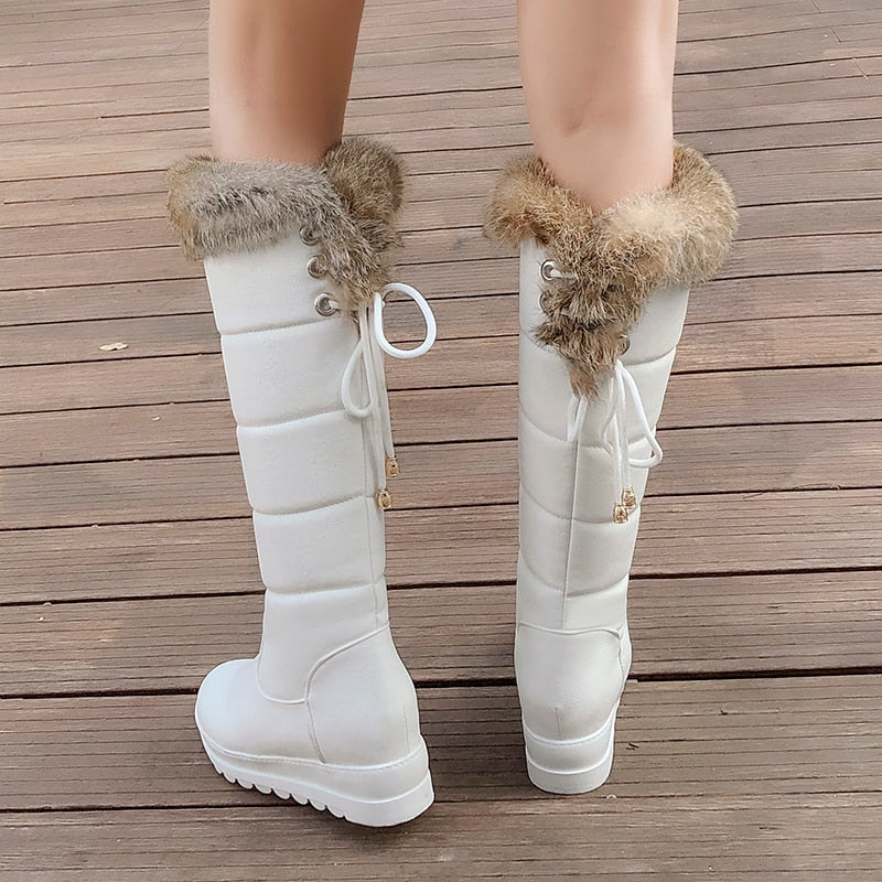 Over The Knee Boots Waterproof Fur Boots