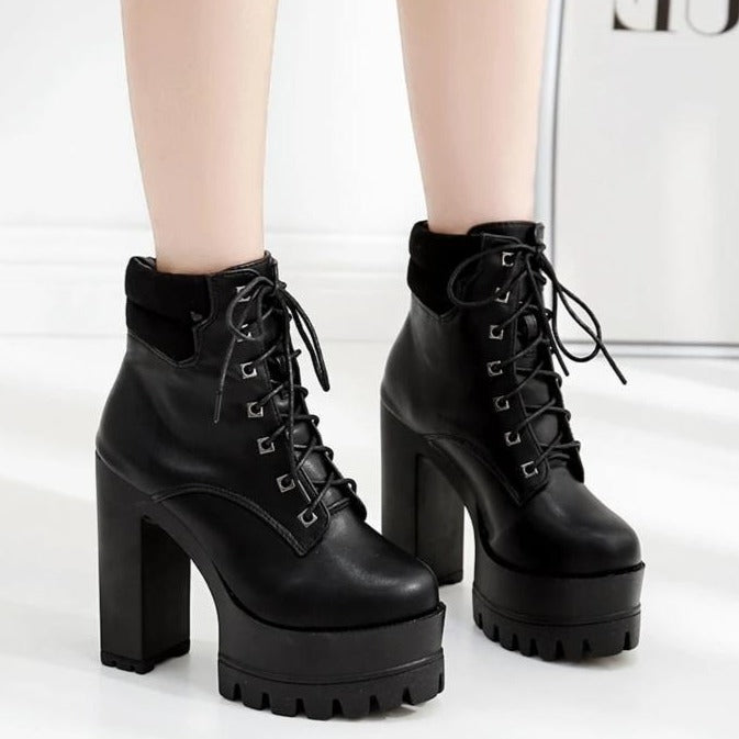 High-heeled Ankle Boots